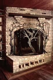 Unique fireplace screens Decorative Tree Fireplace Screen And Tools Love The Way The Tools Are Incorporated Into The Design Pinterest 24 Best Wrought Iron Fireplace Screen Images Wrought Iron
