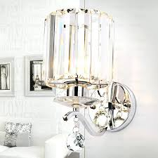 beautiful shiny crystal shade hardware fixture modern wall sconces on for candles glass sconce candle holder