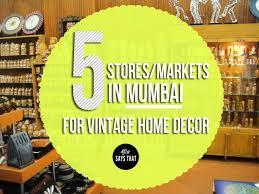 shopping for home decor in mumbai
