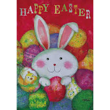 rain or shine 1 5 ft x 1 04 ft easter garden flag