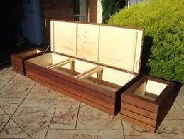 Diy Backyard Seating Modern Large Deck Box Banquette Outdoor Wall
