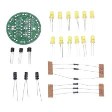 <b>3pcs DIY Yellow LED</b> Round Flash Electronic Production Kit ...