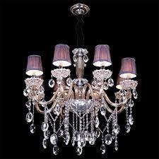 mini purple chandelier shades