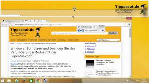 Windows Bildschirmlupe Aktivieren Und Wieder Ausschalten Tippscoutde