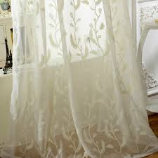 embroidery fl style pleated sheer curtains loading zoom