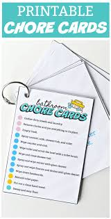 The Life Of Jennifer Dawn Printable Chores Cards And Checklists