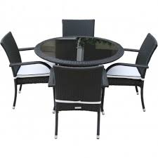 round table chairs set luxury black rattan 4 roma with round table set free lazy