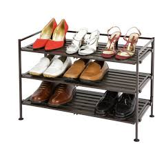 shoe furniture. seville classics 3tier resin slat utility shoe rack espresso furniture