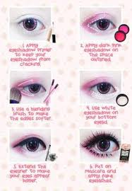 thanks to ichigoflavor for this kawaii eye makeup tutorial using beuberry teddy bear pink circle lenses circle lenses e in various pattern an