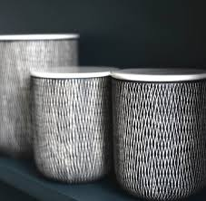 ceramic black and white storage jars the forest co for grey kitchen canisters