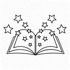 book fantasy line magic old outline star icon