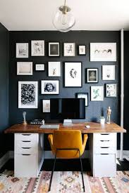 Small Space Design Home Office With Black Walls  Pinterest