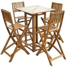 5 piece outdoor bar set outdoor bar set 5 pieces acacia wood garden oasis harrison 5