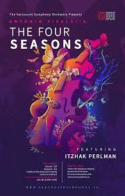Concert Poster Design Vivaldis The Four Seasons Concert Poster Illustration On