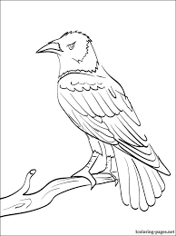 Small Picture Raven coloring and printable page Coloring pages