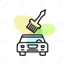 Car Painting Design App Car Painting Icon Vector Isolated On White Background For Your