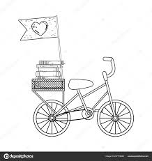 Books On Bicycle Design Pile Text Books In Bicycle Day Celebration Stock Vector