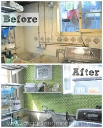 18. Use a stenciled pegboard to cover up an ugly wall.