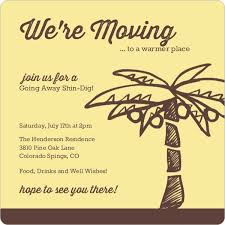 Yellow And Brown Palm Tree Going Away Invitation | Going Away ...