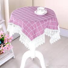 round linen tablecloths new japan style cotton linen table cloth elegant cover four colors lace tablecloth