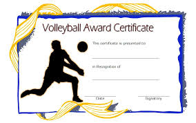 volleyball certificate template volleyball certificate templates best 10 templates