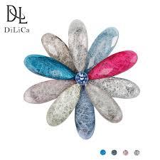 <b>DiLiCa Elegant Women's</b> Flower Brooch Pins Colorful Scarf Buckle ...