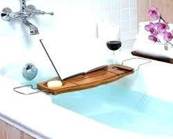 bathroom wine holder bath wine glass holder bathtub book holder wooden bath with book rest and