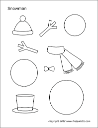 Template Of A Snowman Snowman Free Printable Templates Coloring Pages