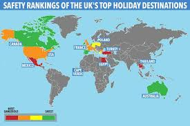 Riskiest Holiday Safest And com Map Danger Reveals Websfeed – The