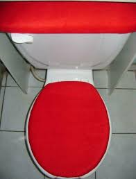 elongated toilet seat cover set solid