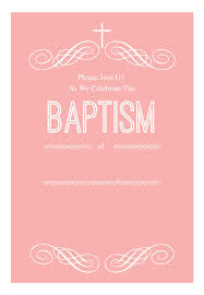 Printable Baptism Invitations Pink Decorations Baptism Christening Invitation Template
