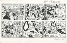 spider man original strip art signed stan lee saviuk sinnott ic art