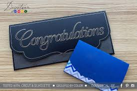 Money Gift Card Envelope Templates Svg Dxf