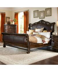 upholstered leather sleigh bed. A.R.T. Furniture Valencia Leather Upholstered Sleigh Bed, Size: California King Bed R