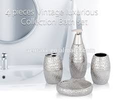 inexpensive bathroom accessories. fashionable inexpensive bathroom set embossed silver plating ceramic luxury accessories n
