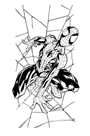 Small Picture Spiderman Vs Venom Coloring Pages Ultimate Spiderman Coloring