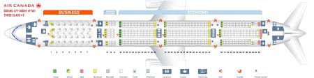 Air Canada Plane Seating Chart Air Canada Fleet Boeing 777 300er Details And Pictures