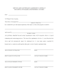 annual maintenance contract format for machine property maintenance contract template municipal utility