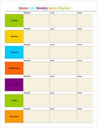 Bi Weekly Meal Planner Template Blank Meal Planner Pdf Download Them Or Print
