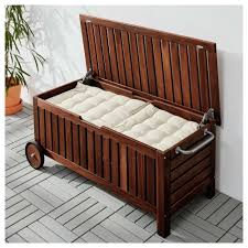 bench garden storage box outdoor bin waterproof containers ideas of patio furniture cushion storage