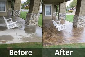 stained concrete patio before and after. Modern Concept Repair Concrete Patio With Seattle Overlays And NW Stained Before After E