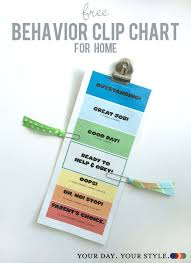 Free Printable Behavior Clip Chart For Home To Help With