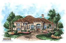 Antigua House Plan   Mediterranean House Plan   Weber Design GroupPrint Elevation   View Larger Image