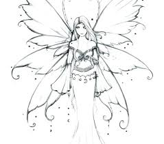 Fairy Color Sheets Fairy Color Pages For Adults Anime Coloring Pages