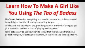Get a girl to like u