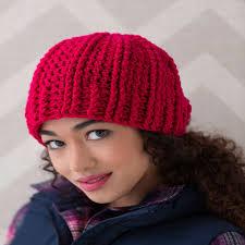Free Crochet Hat Patterns For Women Inspiration Ridged Crochet Hat Red Heart