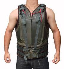green molded leather dark knight rises bane vest