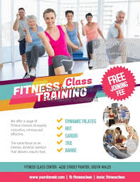 Training Flyer Fitness Training Class Flyer Poster Template Postermywall
