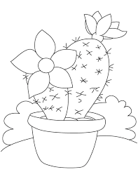 Small Picture Large flower on cactus coloring page Download Free Large flower