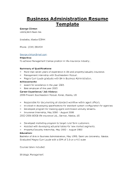 Resume Sample For Business Administration Graduate Resume Template